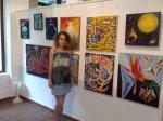 Salonul de arta moderna organizat de Asocitaia Artistilor Plastici din Bucuresti la galeria AAP din Herastrau - Corina Chirila cu cateva peisaje din univers