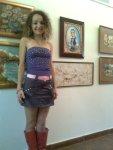 Expozitie de pictura pe teme rorale in Herastrau - Tablou facut cu cafea de Corina Chirila