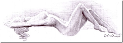 nud de femeie desen in creion - nude woman pencil drawing