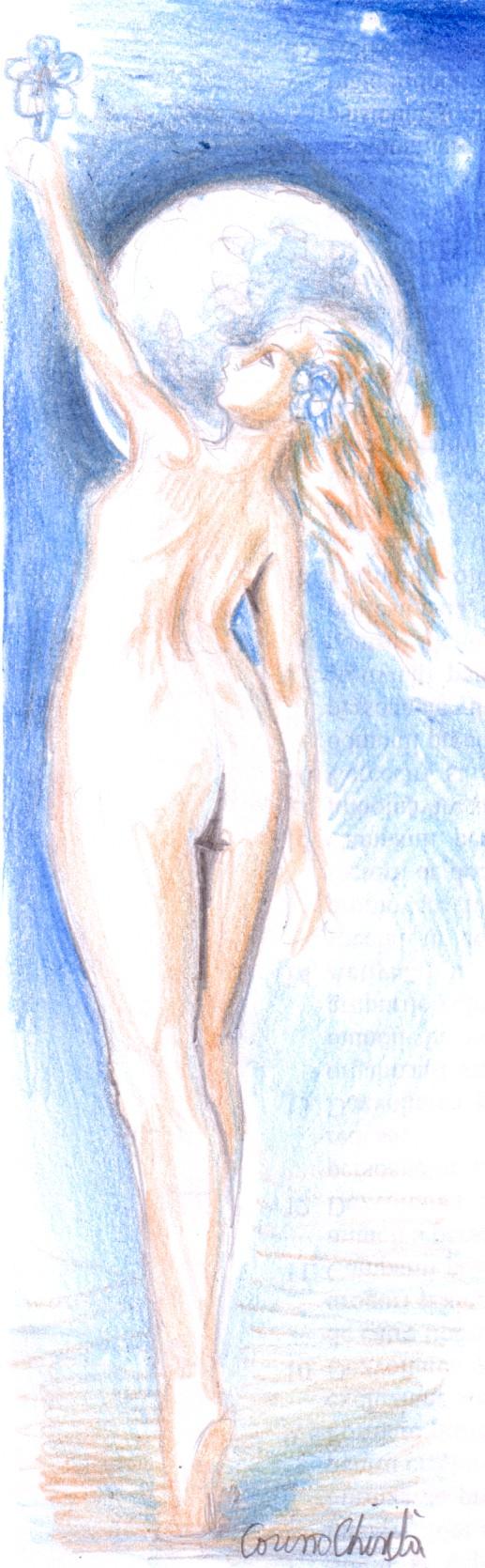 Ca un stalp stau in luna ce frumoasa ce nebuna Nudul fetei care a fost muza poeziei Floare albastra, prima si marea iubire a lui Mihai Eminescu