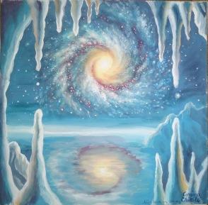 Galaxie vazuta dintr-o pestera de gheata