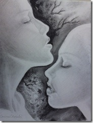 Love and desire pencil drawing - Iubire pasiune si dorinta desen in creion
