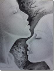 Love and desire pencil drawing - Iubire pasiune si dorinta desen in creion