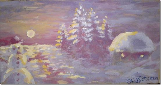 Peisaj de iarna - pictura de iarna