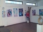 Eu alaturi de o parte dintre lucrarile expuse la galeria AAP din herastrau