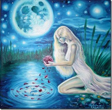 Craisa din povesti pictura ulei pe panza inspirata din poezia lui Mihai Eminescu