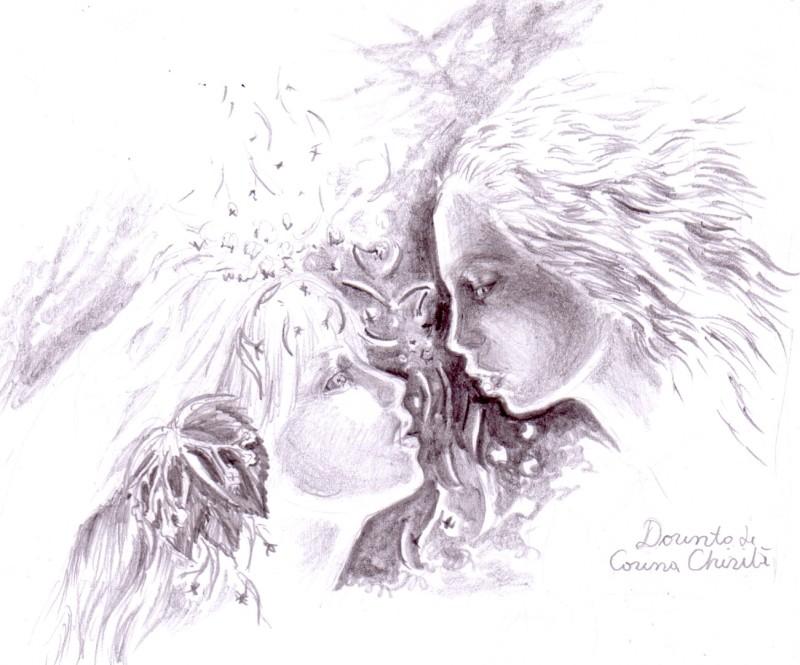 Dorinta, inca un desen in creion inspirat din poezia lui Mihai Eminescu