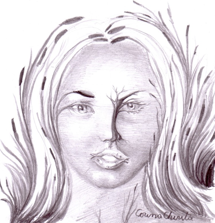 Desen in creion inspirat din poezia Creion de Tudor Arghezi