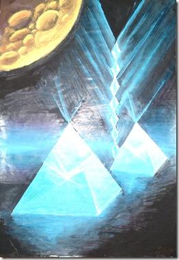 Energia cosmica a piramidelor pictura tempera