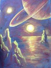 Apus de soare pe Titan