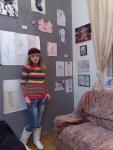 artista Corina Chirila la Casa matasari la expozitia de arta LGBT