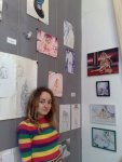 Artista Corina Chirila si creatiile ei la Casa Matasari