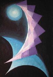Curbura negativa, pictura abstracta