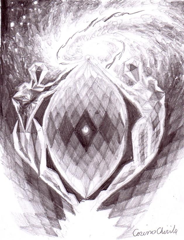 Diamantele cerului, desen in creion