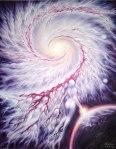 Galaxia iubirii, pictura ulei pe panza