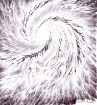 Galaxia iubirii schita in creion - The galaxy of love pencil drawing