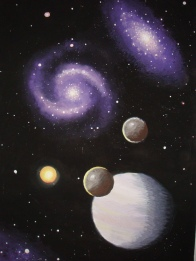 Galaxies and gas giant planet
