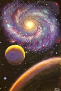 Galaxie si planete, pictura