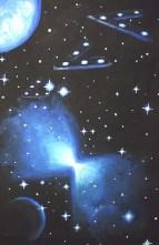 Nebuloasa bumerang pictura - Boomerang nebula painting
