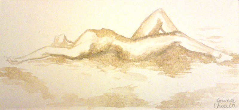 Un nud pictat cu mochaccino