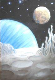 Peisaj de pe o planeta stancoasa