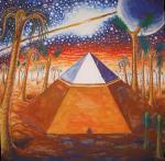 Piramida de pe Marte, pictura acuarela