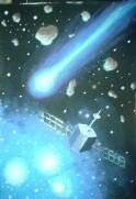 Satelit stele albastre si cometa