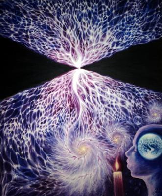 Scrisoarea 1 - Viziunea cosmica a lui Eminescu, pictura ulei pe panza