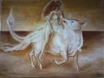 Legenda zodiei taurului - Rapirea Europei pictura ulei pe panza