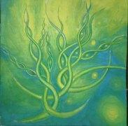 Verdele vietii pictura abstracta
