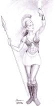 Zeita Atena desen in creion