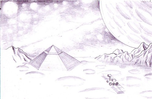 Zona Cydonia desen in creion - Cydonia pencil drawing