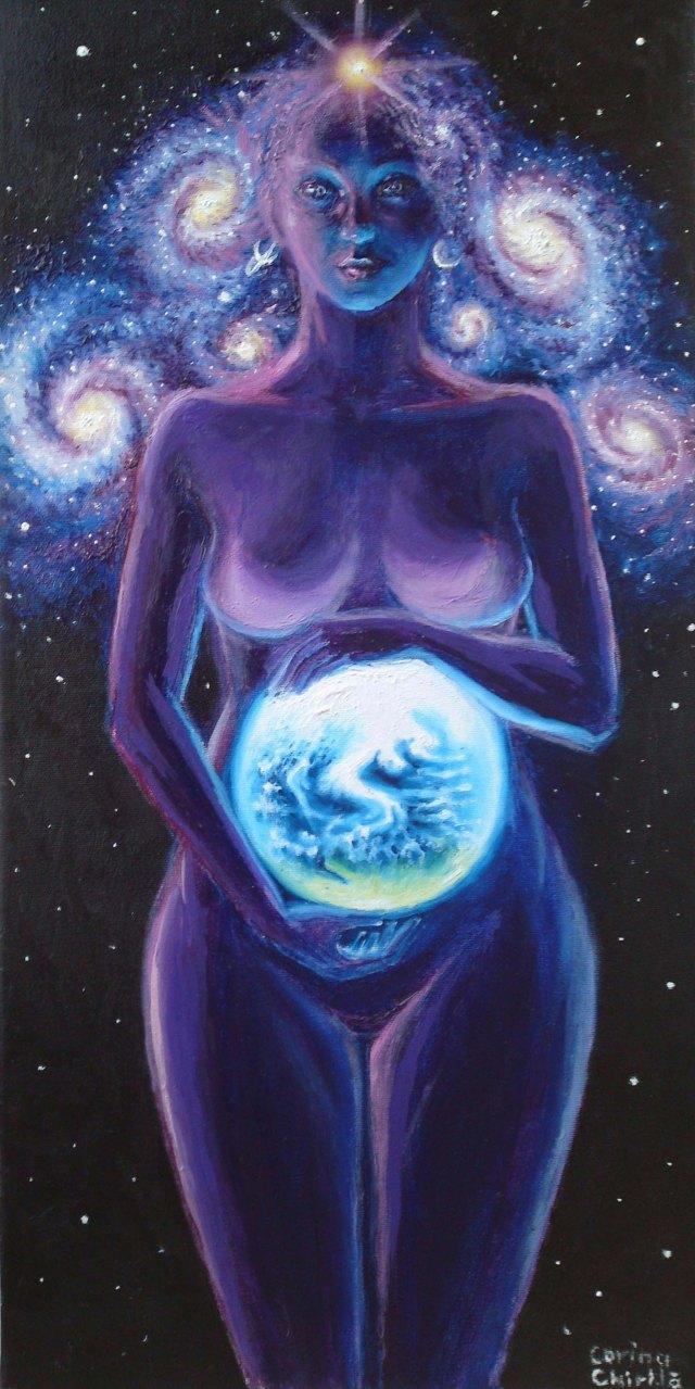 Mama Terra, pictura ulei pe panza