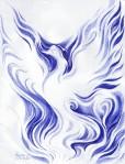 pasarea phoenix desenata cu pixul