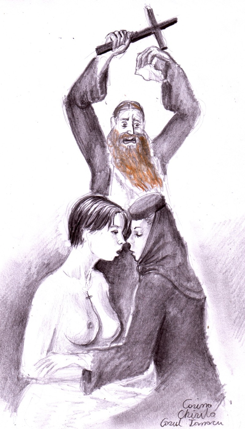 Cazul Tanacu - Irina  Cornici cu alta maicuta si parintele Corogeanu