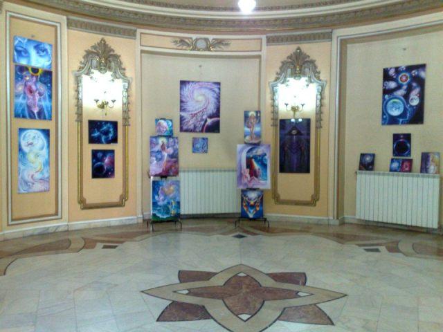 Expozitia mea de pictura de la cercul Militar National, sala ronda