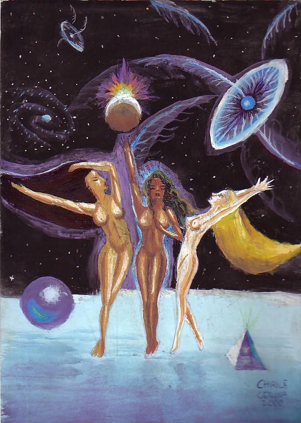 Cele 3 gratii, pictura din toamna anului 2000