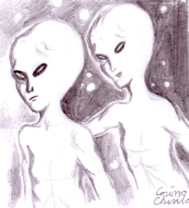 Cuplu de extraterestrii