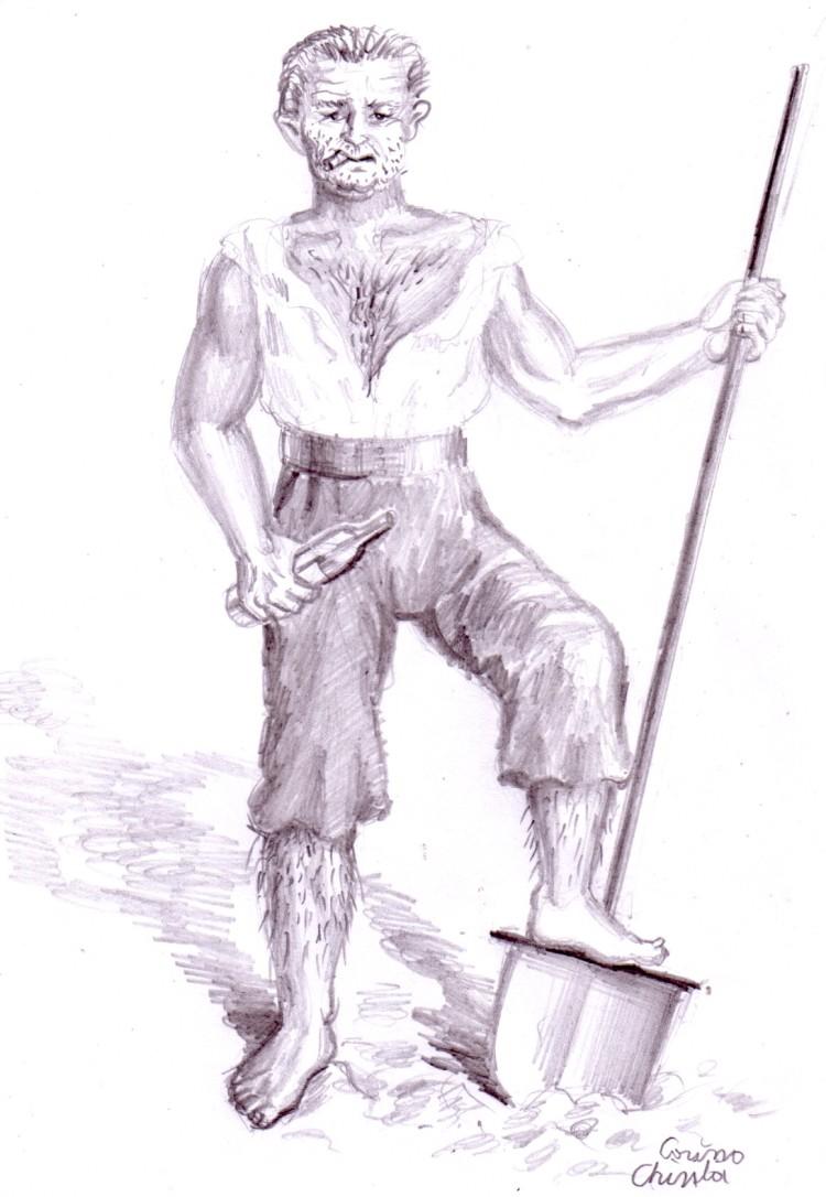 Ion, desen in creion inspirat din eomanul lui Liviu Rebreanu