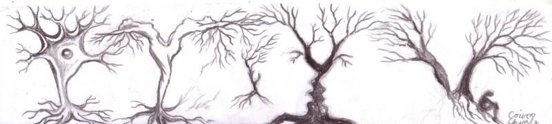 Poveste cu copaci, desen in creion