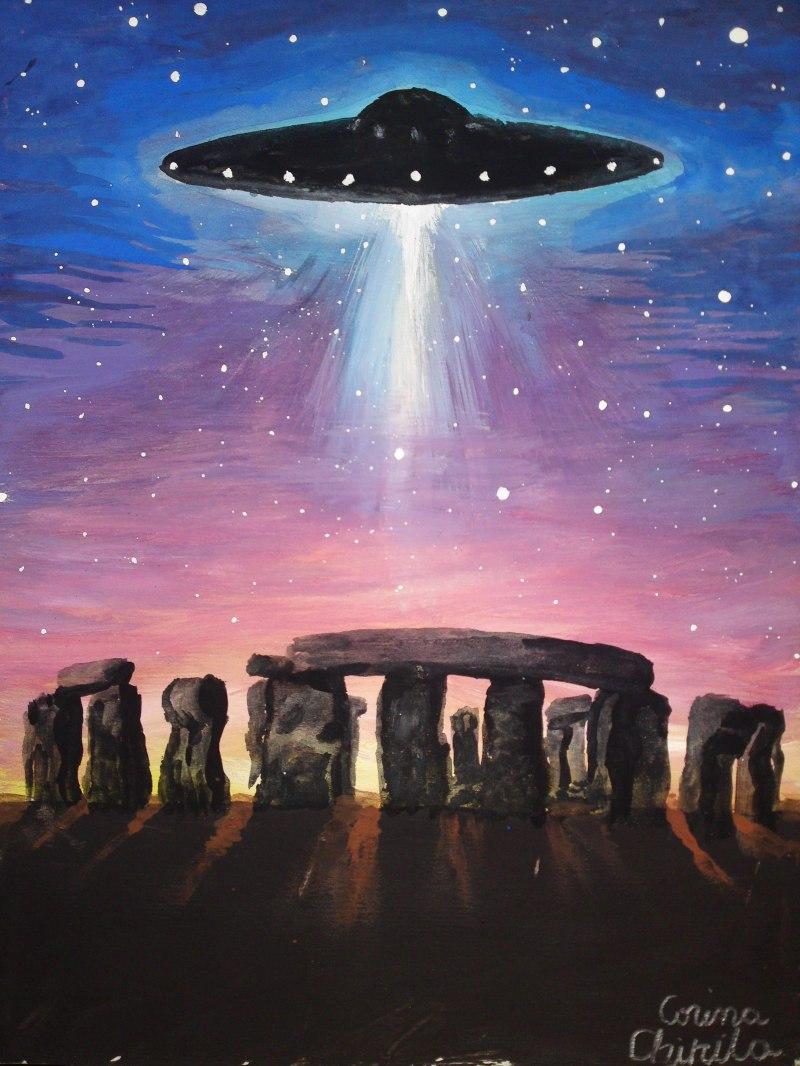 OZNul de la Stonehenge, piectura tempera