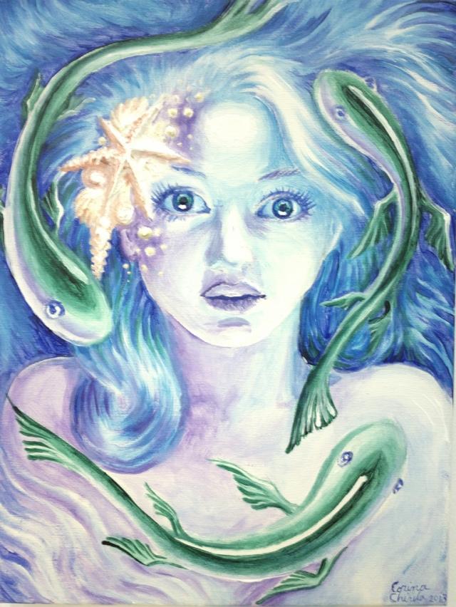 Regina marilor, pictura acrilice pe panza
