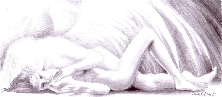 Mitul zburatorului, desen in creion