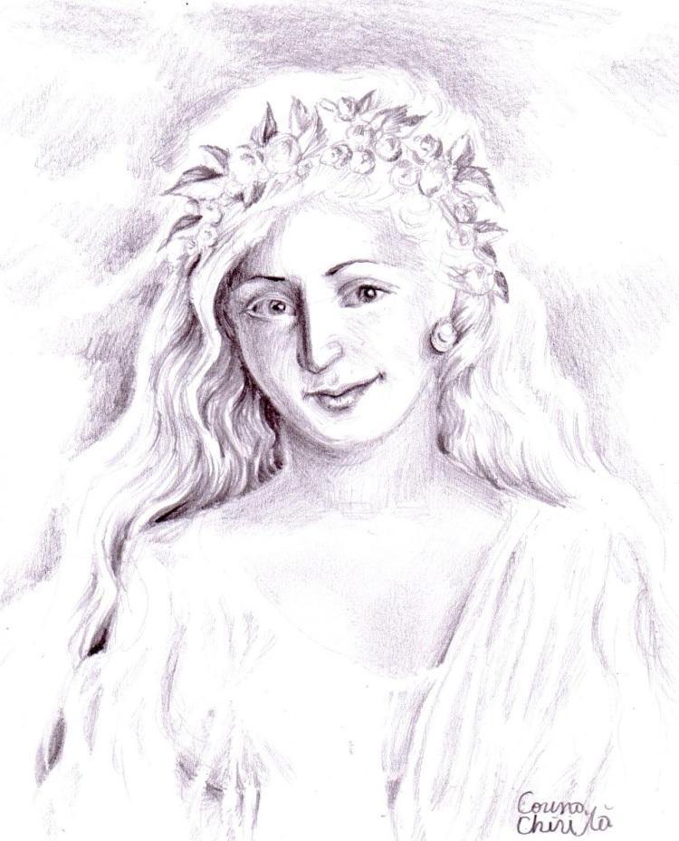 Portret de fata din Grecia antica