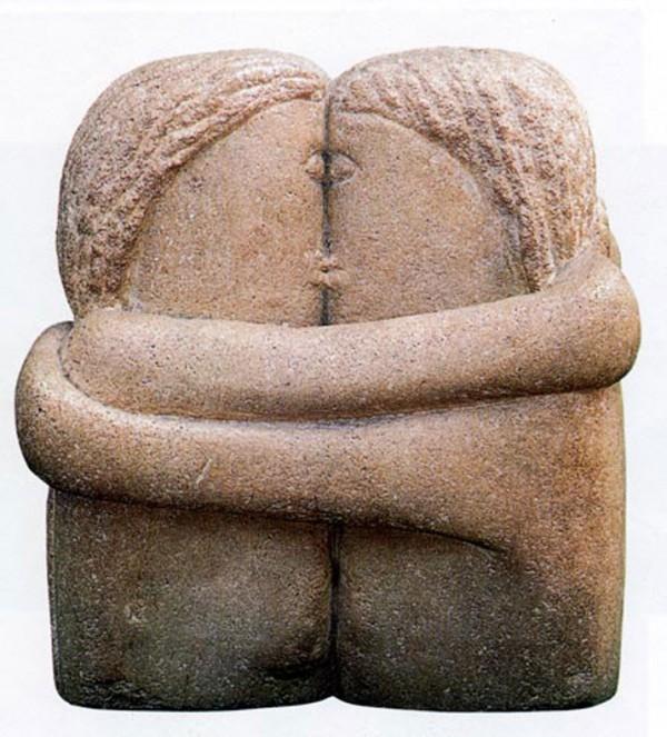 Sarutul, sculptura de Constantin Brancusi