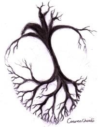 Desen in creion inspirat din versurile poeziei Emotie de toamna de Nichita Stanescu