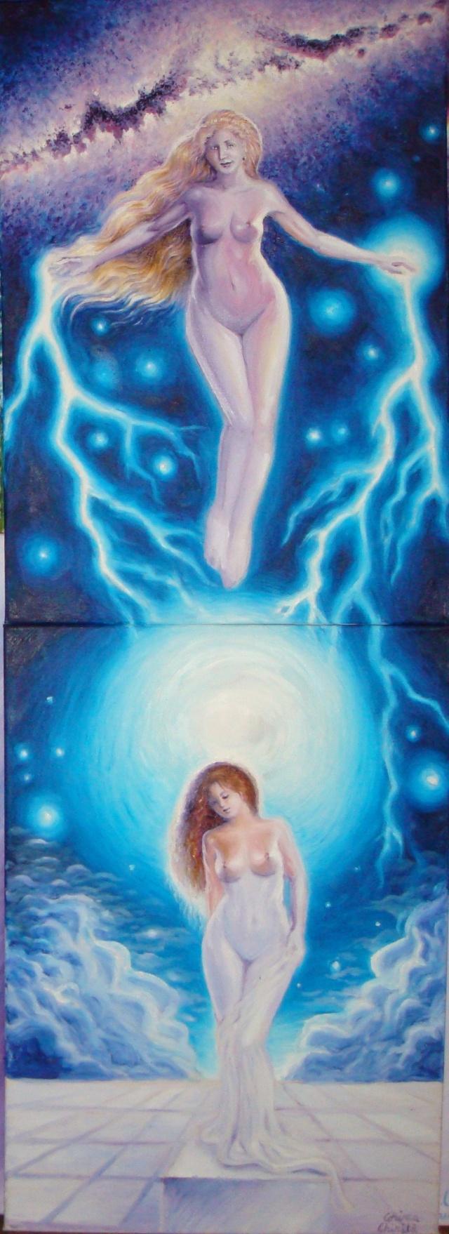Legenda statuii Galateea,  pictura ulei pe panza