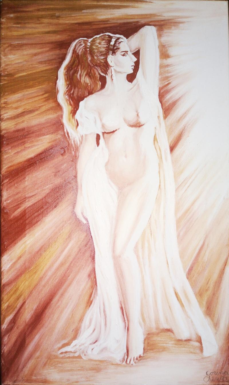 Corinna muza poetului roman Ovidiu pictura ulei pe panza