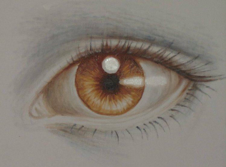 Ochi pictat pe panza