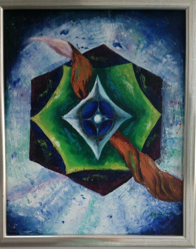Privire spre necunoscut, pictura de Ioana Dascalu